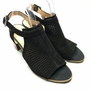 Franco Sarto Harlet 2 Chunky Heel Black Leather